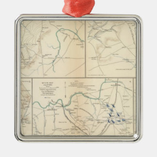 Readyville, Bradyville, Woodbury Silver-Colored Square Ornament