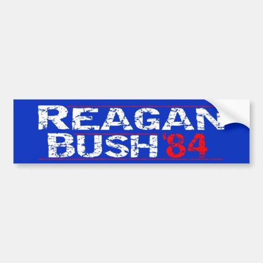 Reagan 84 - distressed bumper sticker