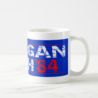 Reagan 84 - distressed classic white coffee mug