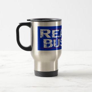 Reagan 84 - distressed stainless steel travel mug