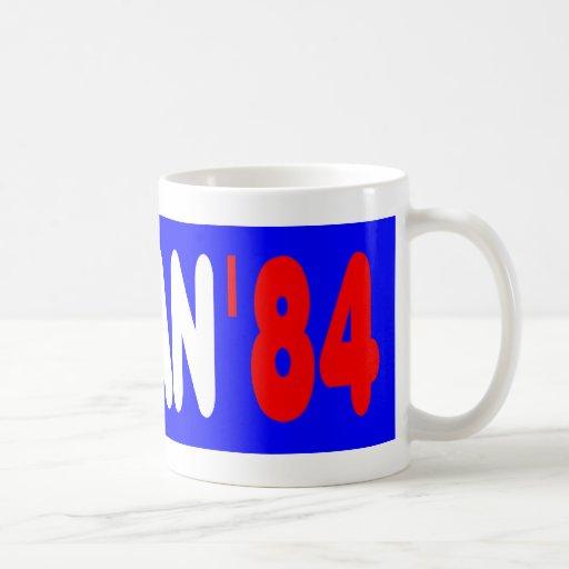 Reagan '84 coffee mug
