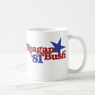 Reagan Bush 1981 Basic White Mug