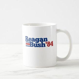 Reagan Bush 1984 Basic White Mug