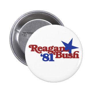 Reagan Bush 81 2 Inch Round Button