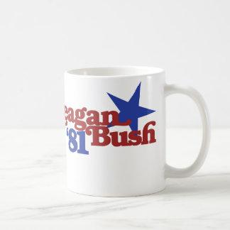 Reagan Bush 81 Basic White Mug