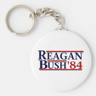 Reagan Bush '84 Basic Round Button Keychain
