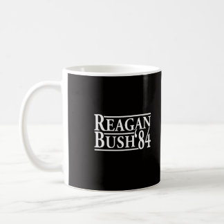 Reagan Bush '84 Basic White Mug