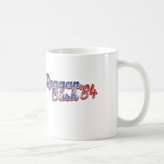 Reagan Bush 84 Basic White Mug