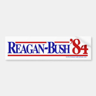 Reagan Bush 84 Bumper Sticker