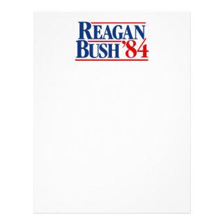 Reagan Bush '84 Campaign Letterhead Design