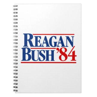 Reagan Bush 84 Campaign Spiral Notebooks