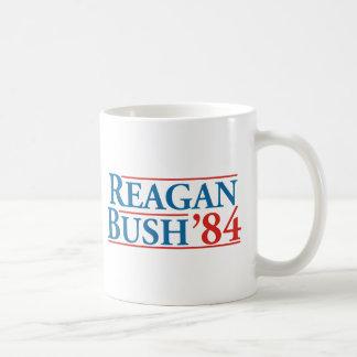 Reagan Bush '84 Classic White Coffee Mug