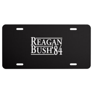 Reagan Bush '84 License Plate
