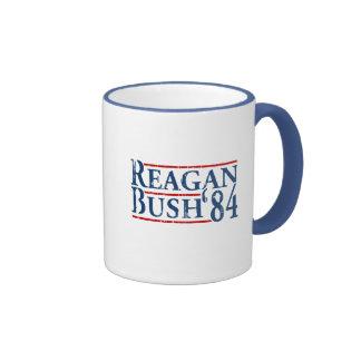 Reagan Bush '84 Ringer Mug