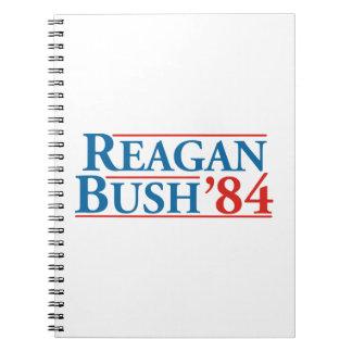 Reagan Bush '84 Spiral Notebooks