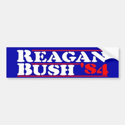 Reagan Bush '84 Stencil Bumper Stickers