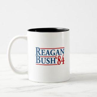 Reagan Bush '84 Two-Tone Mug