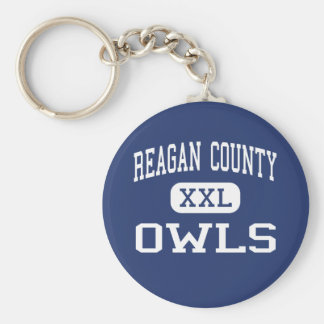 Reagan County Owls Middle Big Lake Texas Keychain