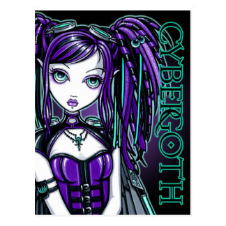 Reagan Cyber Goth Radioactive Fairy Art Postcard