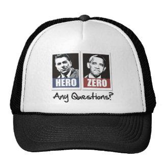reagan hero obama zero trucker hat