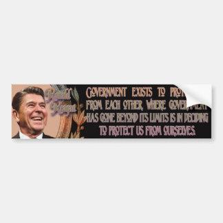 Reagan on Government's Purpose Car Bumper Sticker
