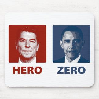Reagan or Obama? Hero or Zero Mouse Pad