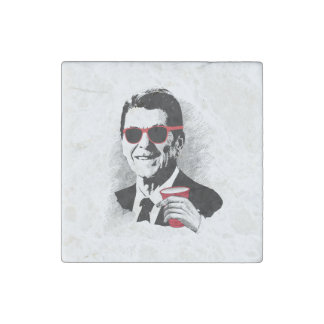 Reagan Party Animal Stone Magnets