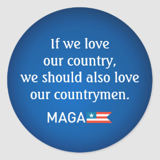 Reagan Quote Countrymen Unity MAGA 20xstickers Classic Round Sticker