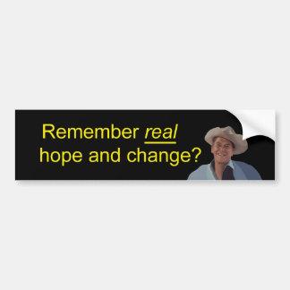 Reagan Remember REAL Hope & Change Bumper Sticker
