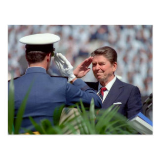 Reagan Salute Postcard