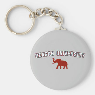 Reagan University Basic Round Button Keychain