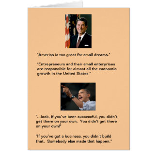Reagan versus Obama Card
