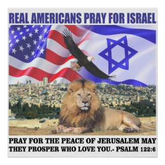 Real Americans Pray For Israel Poster