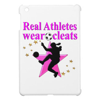 REAL ATHLETES PLAY SOCCER DESIGN iPad MINI COVER