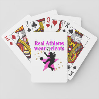 REAL ATHLETES PLAY SOCCER DESIGN PLAYING CARDS