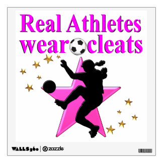 REAL ATHLETES PLAY SOCCER DESIGN WALL DECAL