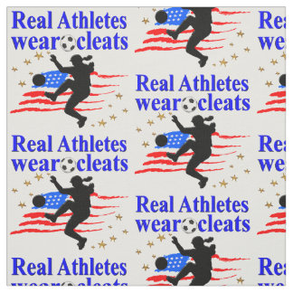 REAL ATHLETES WEAR CLEATS SOCCER DESIGN FABRIC