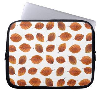 Real Autumn Leaves Pattern Laptop Sleeve