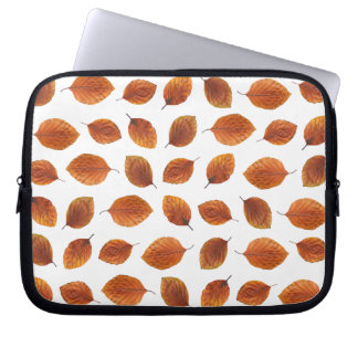 Real Autumn Leaves Pattern Laptop Sleeves
