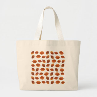 Real Autumn Leaves Pattern Large Tote Bag