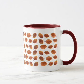 Real Autumn Leaves Pattern Mug
