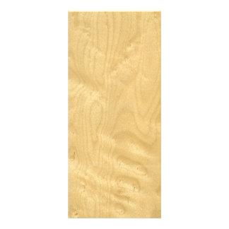 Real Birds Eye Maple Veneer Woodgrain Rack Card