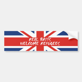 Real Brits Welcome Refugees Bumper Sticker