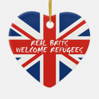 Real Brits Welcome Refugees Ceramic Ornament