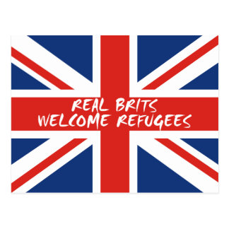 Real Brits Welcome Refugees Postcard