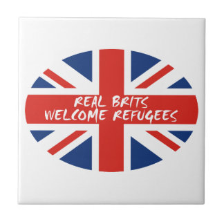 Real Brits Welcome Refugees Tiles