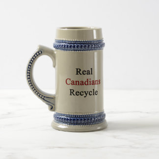Real Canadians Recycle Beer Stein