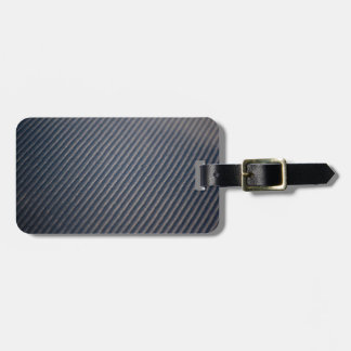 Real Carbon Fiber Photo Texture Luggage Tag