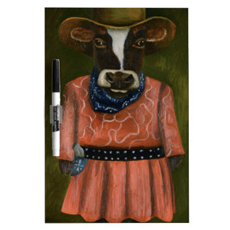 Real Cowgirl Dry Erase Whiteboard