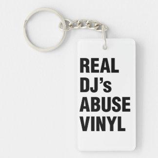 REAL DJ's ABUSE VINYL Double-Sided Rectangular Acrylic Keychain